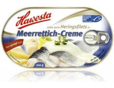 Hawesta Heringsfilet in Meerrettich Creme 200g