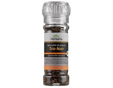 Herbaria moulin à poivres Trio Noir 50g