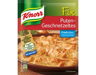 Knorr Fix für Puten-Geschnetzeltes
