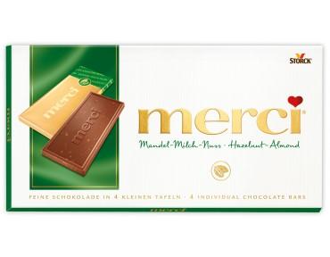 Merci Mandel-Milch-Nuss Tafelschokolade 100g