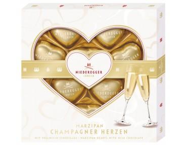 Niederegger Marzipan Champagner Herzen 125g