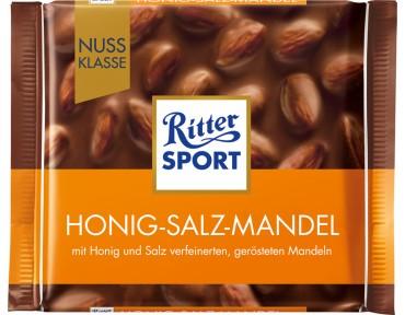Ritter Sport amandes au miel et sel