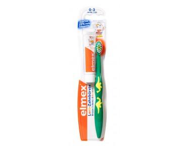 Elmex brosse à dent éducative + dentifrice enfant