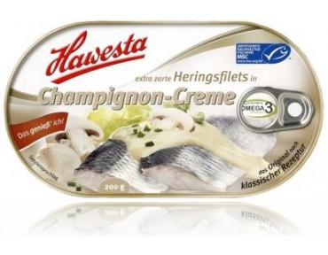 Hawesta Heringsfilet in Champignon Creme 200g