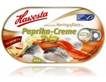 Hawesta Heringsfilet in Paprika-Creme 200g