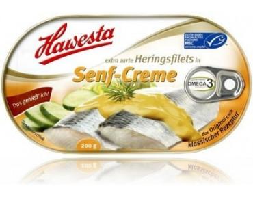 Hawesta Heringsfilet in Senf-Creme 200g
