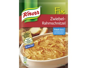 Knorr Fix Zwiebel-Rahm Schnitzel
