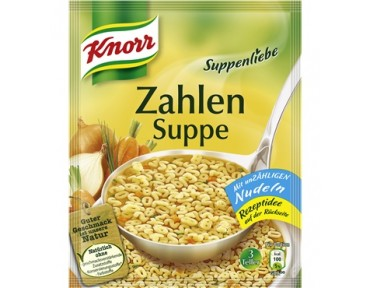 Knorr Suppenliebe Zahlensuppe