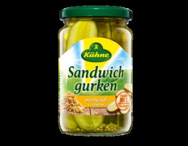 Kühne conrnichons pour Sandwich 370ml