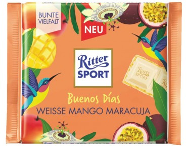 "Ritter Sport ""Buenos Días"" Weisse Mango Maracuja 100g"