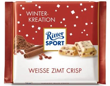 Ritter Sport Winter-Kreation Weiße Zimt Crisp