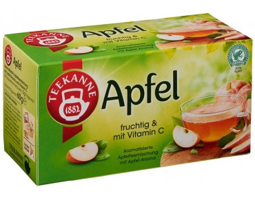 Teekanne Apfel infusion aux pommes