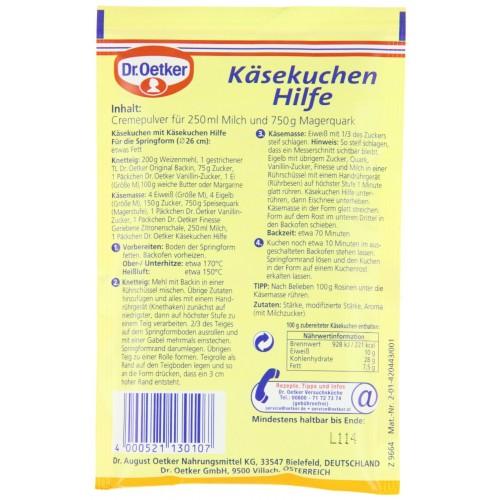 Preparation Pour Gateau Au Fromage De Dr Oetker Mygermanmarket Com